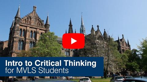 Video - Intro to Critical Thinking for MVLS students