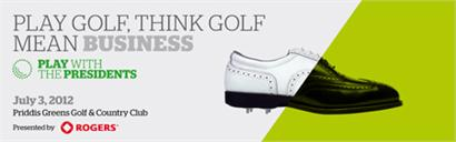 Play golf. Think golf. Mean business.