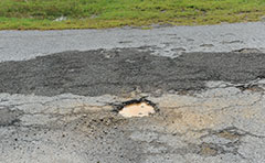 Image of pothole in road