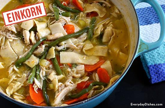 Hearty Einkorn Chicken Noodle Soup