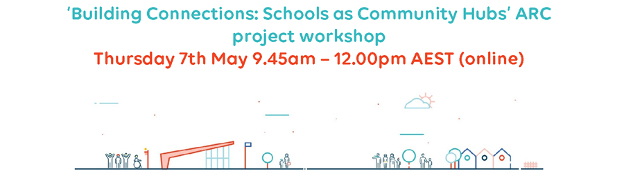 Image with title of Building Connections workshop in May and illustrations