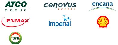ATCO Group, Cenovus, Encana, ENMAX, Imperial, Shell Canada and Tervita