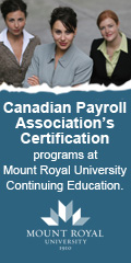 Mount Royal University - Canadian Payroll Association's Certification