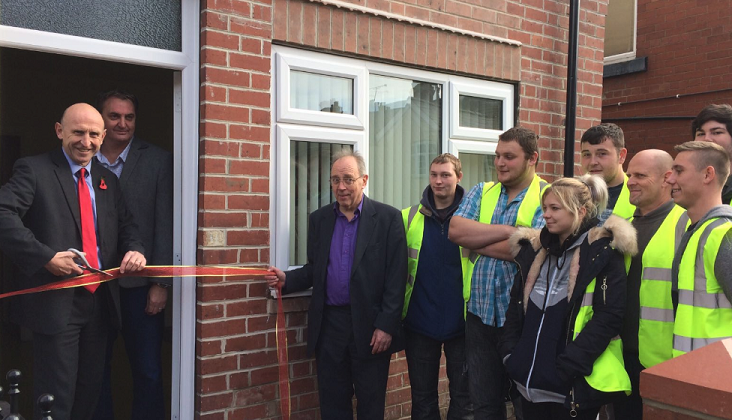 John Healey MP opens Big Local housing project property