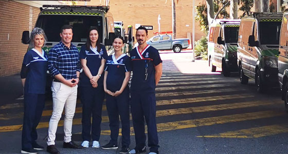 Commission and ED staff at Perth Royal Hospital