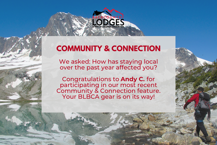 Community and connection: congrats to Andy C.!