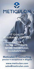 Ad: Meticulon - IT quality assurance services