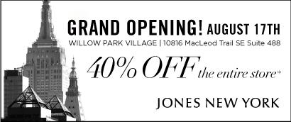 Jones New York - Grand Opening Oct 17