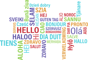 Image of hello in many languages