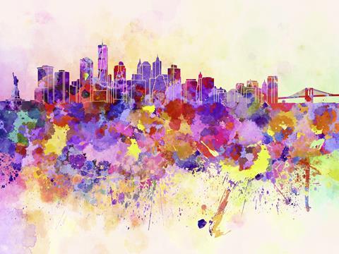 Artistic NYC skyline