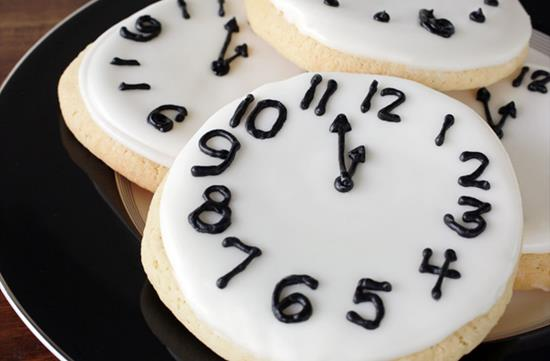 New Years sugar cookies