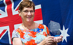Photo of this year's Australia Day Citizen of the Year, Judith Young