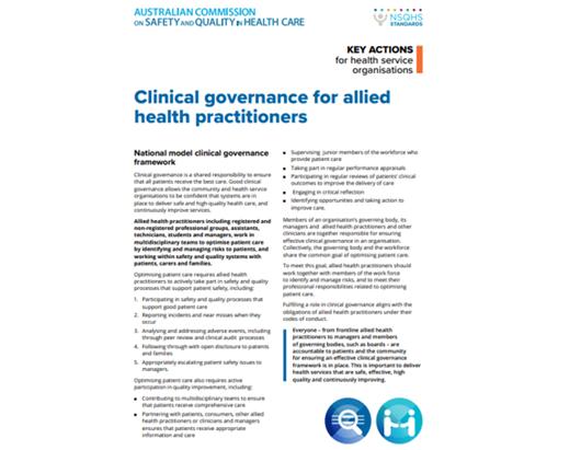 Clinical governance fact sheet