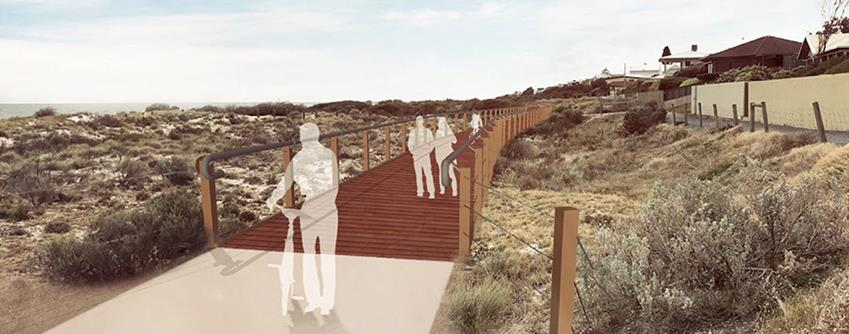 Proposed path rendered drawing over image