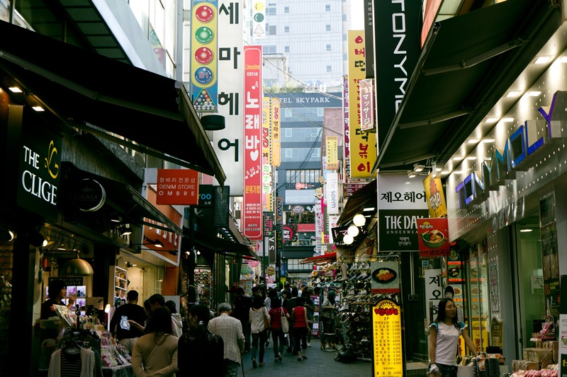 Street scene in Seoul, Korea