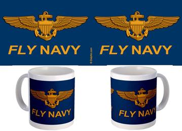 Fly Navy Blue Background