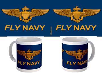 Fly Navy Blue Background