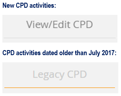 Where to find your CPD activity records