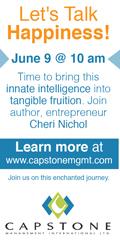 Ad: Capstone Management Let's Talk Happiness Workshop