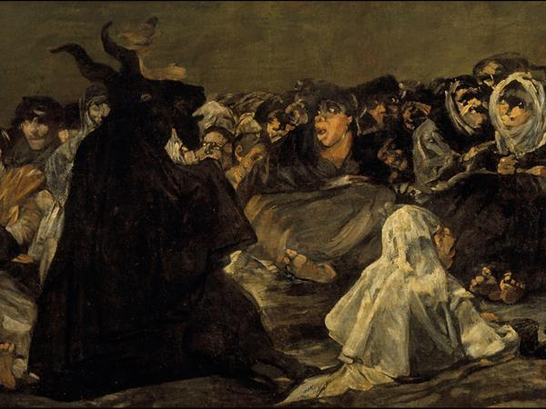 Francisco Goya, Witches' sabbath or The Great He-Goat, (detail) 1821-1823.