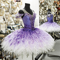 Tutu for the Lilac Fairy in David McAlllister's The Sleeping Beauty. Design Gabriela Tylesova. Photography Kate Longley
