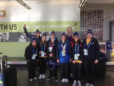 SOBC athletes and coaches at Canada Games