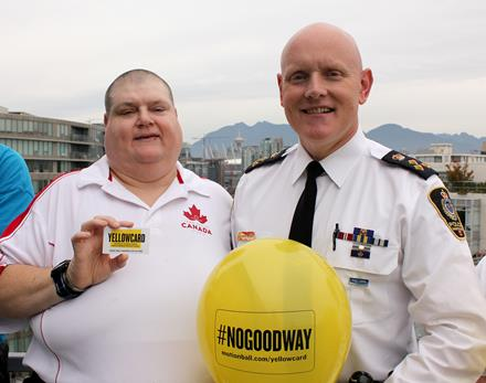 Vancouver Police Department and Special Olympics supporting YELLOWCARD Day
