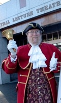 Christchurch&#39;s Town Crier helped out during Open Day