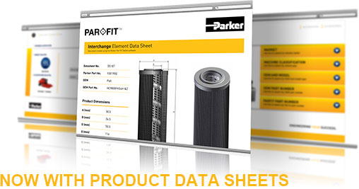 Now with product data sheets