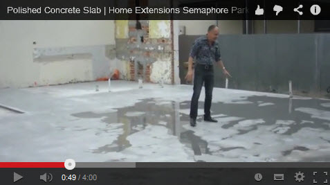 Polished concrete slab for Home Extensions Adelaide