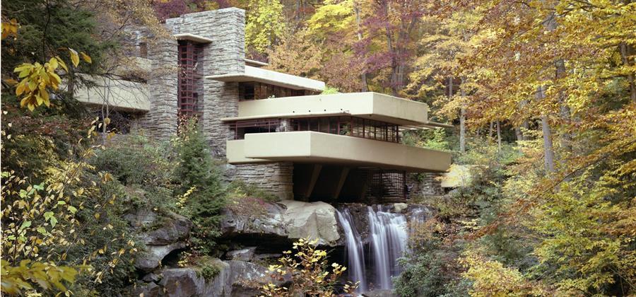 Fallingwater Frank Lloyd wright Pennsylvania house USA 150th birthday