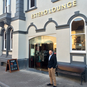 Cooke & Arkwright surveyor Ian Newbury outside Estero Lounge in Monmouth