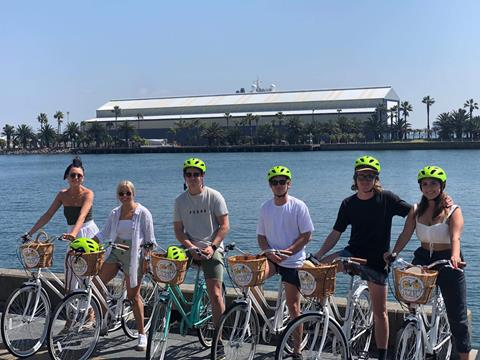 A Pineapple Pedals tour group in Newcastle
