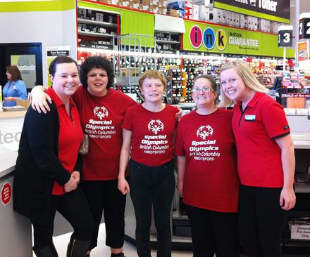 Staples staff and Special Olympics BC - Abbotsford athletes