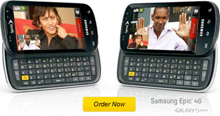 Samsung Epic 4G video chat example, Order Now