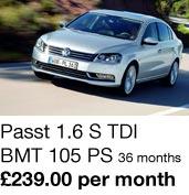 Passat 1.6 S TDI - £239 per month
