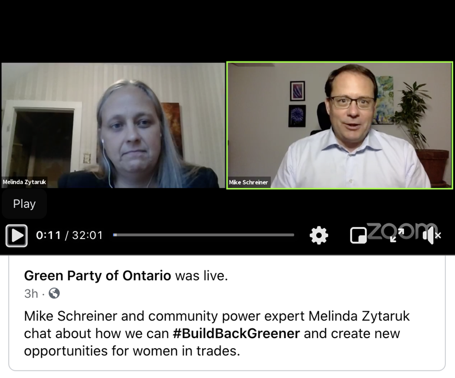 Picture of Melinda Zytaruk and Mike Schreiner