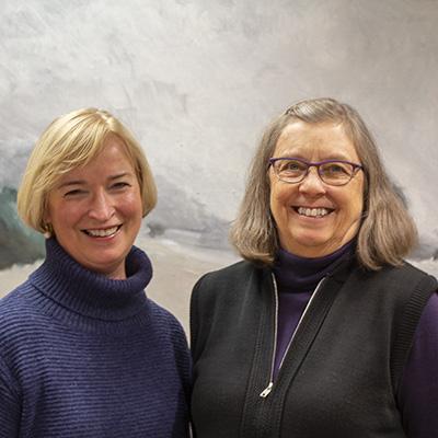 Left to right: Johanna Thoeresz and Kathleen Cornett