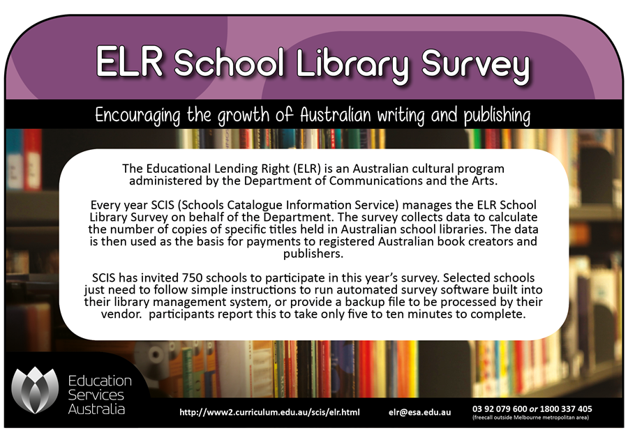 ELR School Library Survey advert