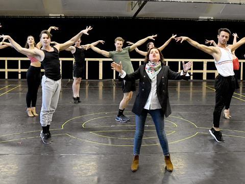 Evita rehearsal