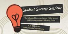 student success series logo with lightbulb