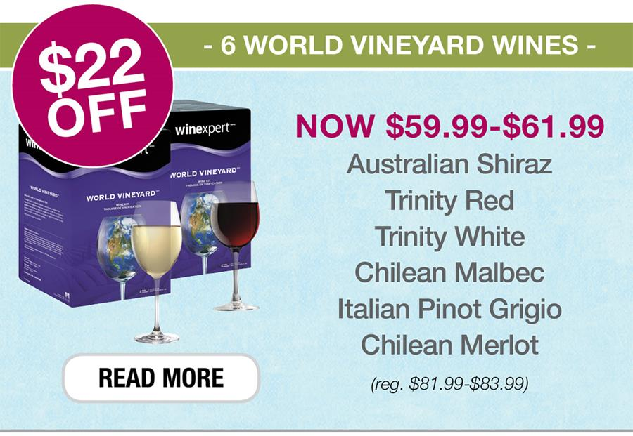 $22 OFF 6 World Vineyards Wines. Click to see all.