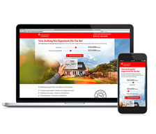 Kreissparkasse Ludwigsburg:  Online-Kampagne Baufinanzierung