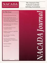 cover of the nacada journal
