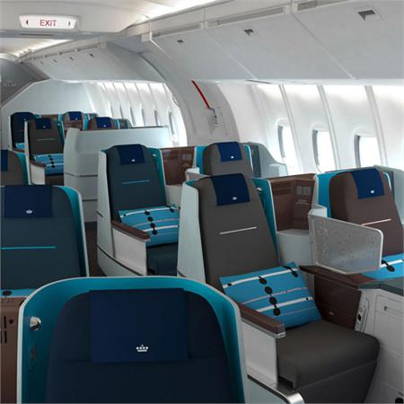World Business Class cabin by Hella Jongerius for KLM