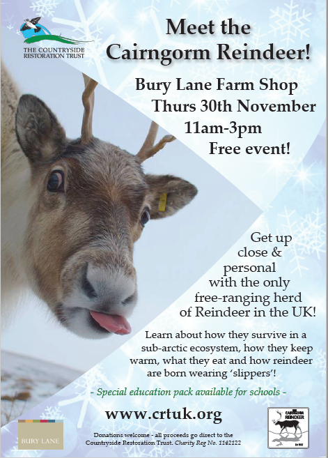Bury Lane Farm Shop Meet the Reindeer 2017