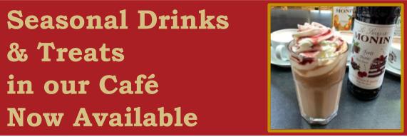 Bury Lane Cafe Seasonal Drinks & Treats November 2018