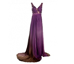 Long dress with applique bodice, £315