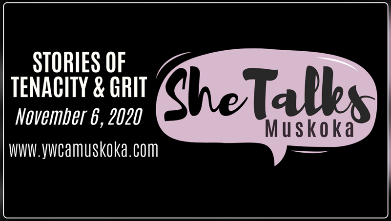 Poster for She Talks: Stories of Tenacity & Grit