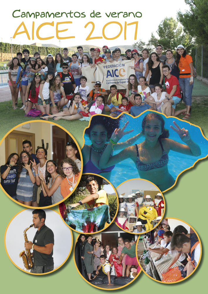 Collage of photos from summer camp